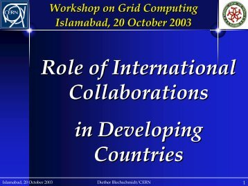 Role of International Collaborations in Developing Countries