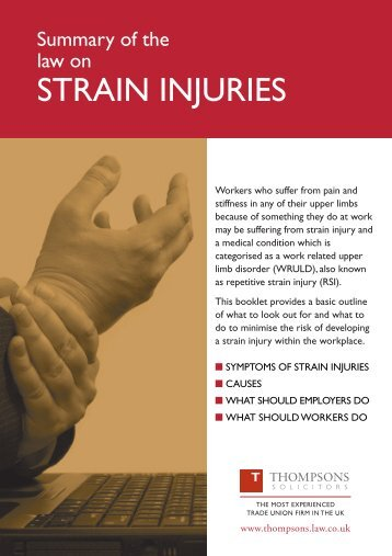 STRAIN INJURIES - Fbu.me.uk