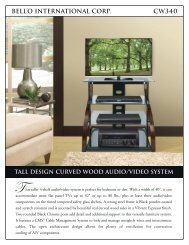 bell'o international corp. cw340 tall design curved wood audio/video ...