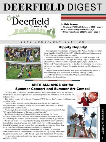 June/July Edition - Deerfield Township, Ohio