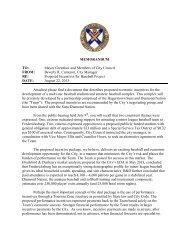 MEMORANDUM TO: Mayor Greenlaw and Members of City Council ...