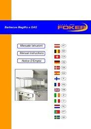 Manuale Istruzioni Barbecue MagiKo a GAS Manual ... - Foker srl