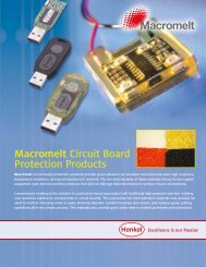 Macromelt Circuit Board Protection Products - Henkel