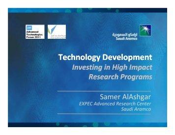 Technology Development Technology Development - Advanced ...