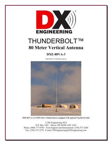 80 Meter Vertical Antenna DXE-80VA-3 - DX Engineering