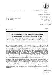 päk 4-2011 100 Jahre Arzneimittelbewertung-FINAL - Ärztekammer ...