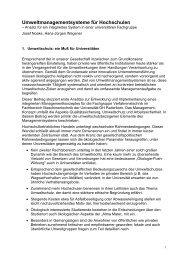 Umweltmanagementsysteme für Hochschulen - Universität Paderborn