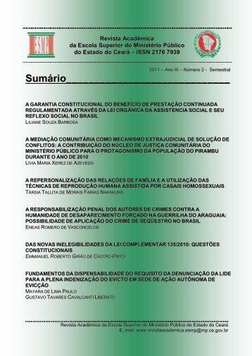 Sumário - Ministério Público do Estado do Ceará