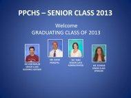 ppchs – senior class 2013