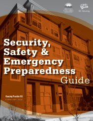 Security, Safety & Emergency Preparedness Guide - BC Housing