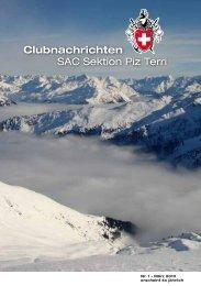 Clubnachrichten SAC Sektion Piz Terri
