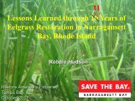 Lessons Learned through 10 Years of Eelgrass Restoration in ...