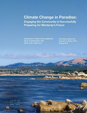 Climate Change in Paradise: - Susanne Moser