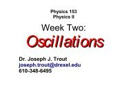 Week Two Lecture: Oscillations and Waves