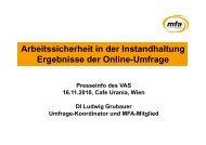 Arbeitssicherheit in der Instandhaltung - MFA – Maintenance and ...