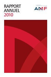 Rapport annuel 2010 de l'AMF - La Documentation française