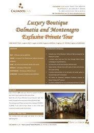 Luxury Boutique Dalmatia and Montenegro ... - Calvados Club