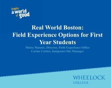 Real World Boston - Wheelock College