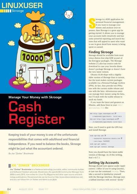 Cash register - Linux Magazine