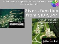 Sivers function from SIDIS and PP - Jefferson Lab