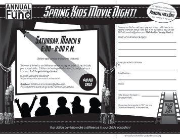 annual fund spring movie span v1 - Hamilton Elementary School