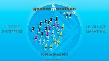 LE VILLAGE MARATHON L'OFFRE ENTREPRISE - Geneva Marathon