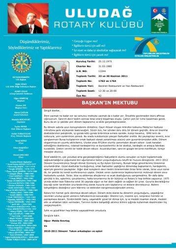 BAġKAN'IN MEKTUBU - Rotary 2440.Bölge
