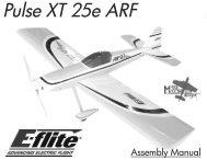 Pulse XT 25e Manual - E-flite