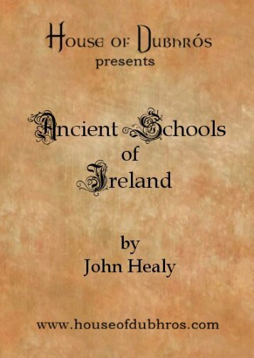 Ireland's Ancient Schools and Scholars by John ... - House of Dubhros