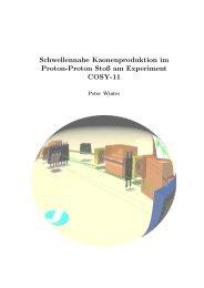 Schwellennahe Kaonenproduktion im Proton-Proton Stoß ... - Cosy-11
