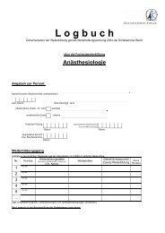 Logbuch FA Anästhesiologie [PDF] - Ärztekammer Berlin