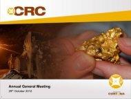 Annual General Meeting - Cortona Resources