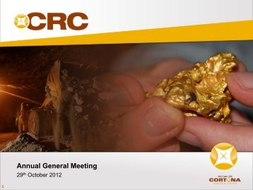 Annual General Meeting - Cortona Resources