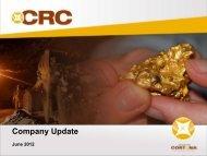 A$125M; NPV (8%) ~$82M - Cortona Resources