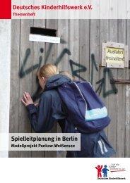 Deutsches Kinderhilfswerk e.V. Spielleitplanung in Berlin