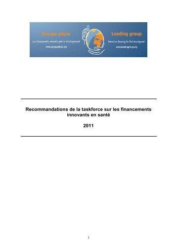 Recommendations TFFIS for Madrid _Fr - Groupe pilote sur les ...