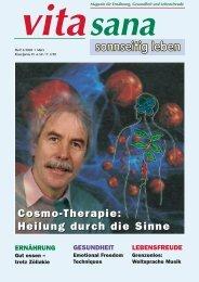 Heilung durch die Sinne Cosmo-Therapie - vita sana Gmbh