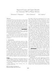 Improved Lower and Upper Bounds for Universal TSP in Planar ...