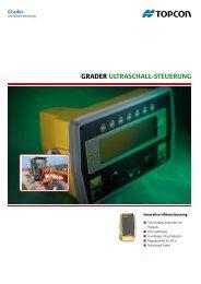 Grader UltraSchall-SteUerUnG - Topcon Positioning