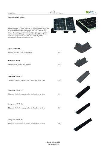 Monteringsstativer i plast - Dansk Solenergi RI