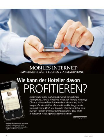 Wie kann der Hotelier davon - hoteljournal.ch