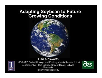 Adapting Soybean to the Future Climate - SoyBase
