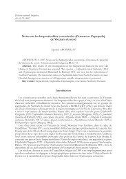 Notes sur les harpacticoïdes cavernicoles ... - Luciopesce.net