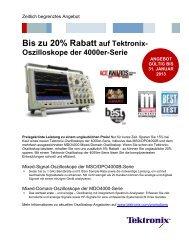 Bis zu 20% Rabatt auf Tektronix- Oszilloskope der 4000er-Serie
