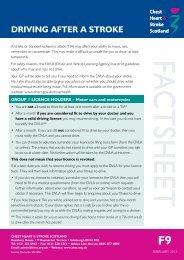 CHSS Fact sheet Driving after a stroke - Chest Heart & Stroke Scotland