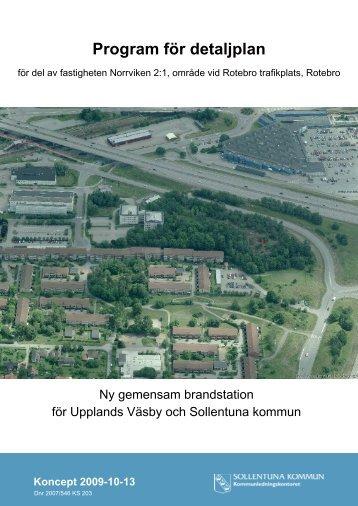 Program för detaljplan - Sollentuna kommun
