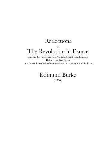 reflections revolution france study guide