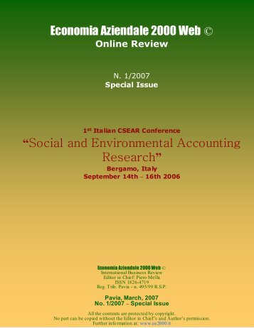 Management Systems and Accountability in - Economia Aziendale ...