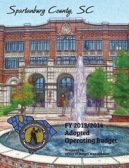 FY 2013-14 Adopted Operating Budget - Spartanburg County