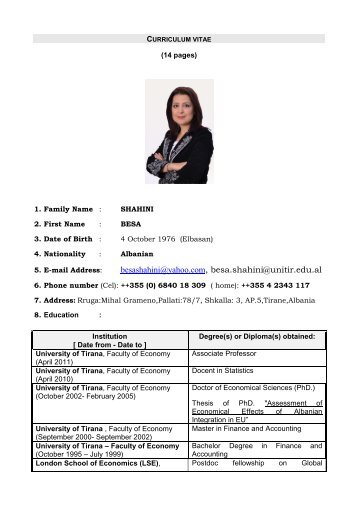 Besa Shahini CV September 2013.pdf - Centre for Southeast ...
